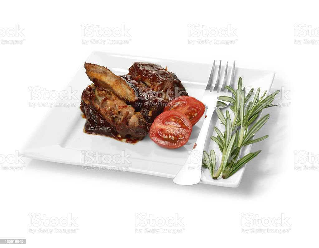 BBQ Ribs royalty-free stock photo