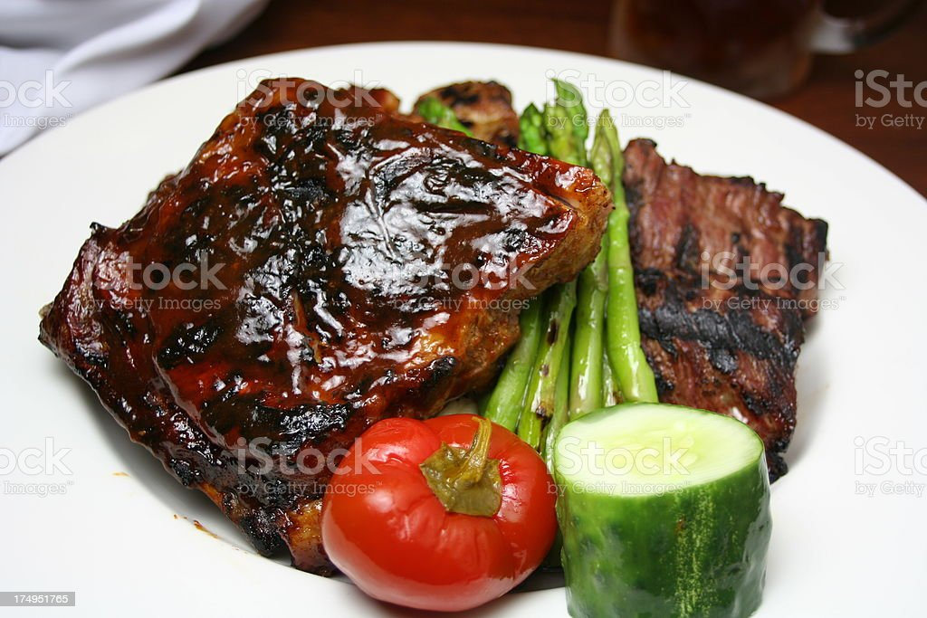 Ribs & Steak Tips royalty-free stock photo