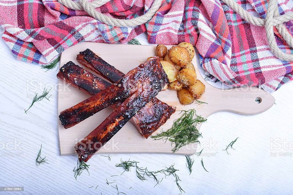 Ribs time stock photo
