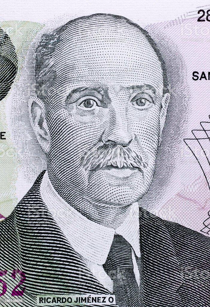Ricardo Jimenez Oreamuno royalty-free stock photo