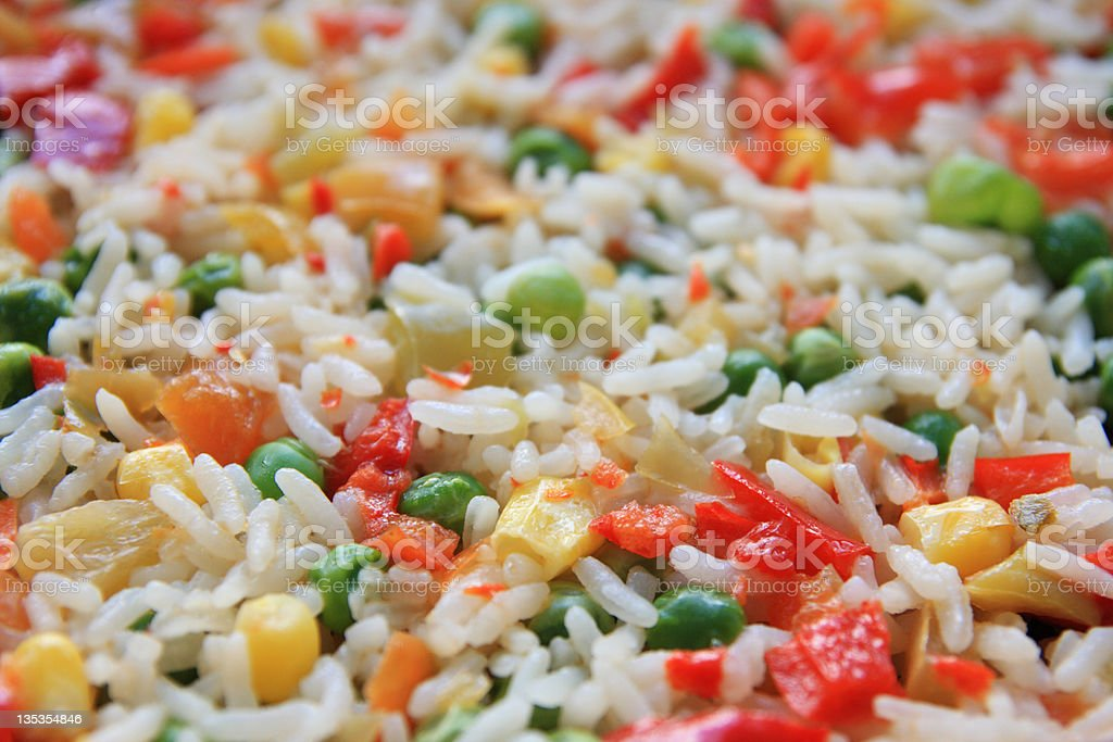 Rice & vegetables. royalty-free stock photo