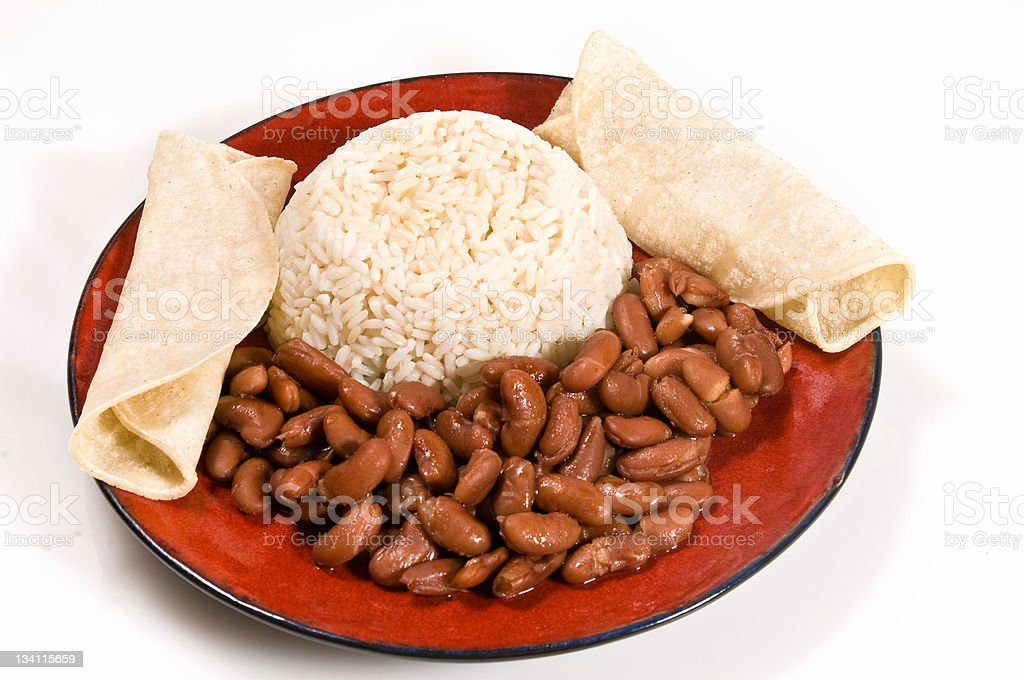 Rice and beans dinner royalty-free stock photo