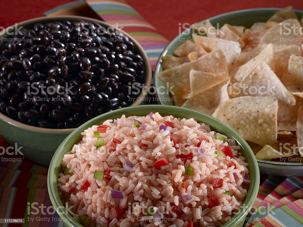 Rice and Beans royalty-free stock photo