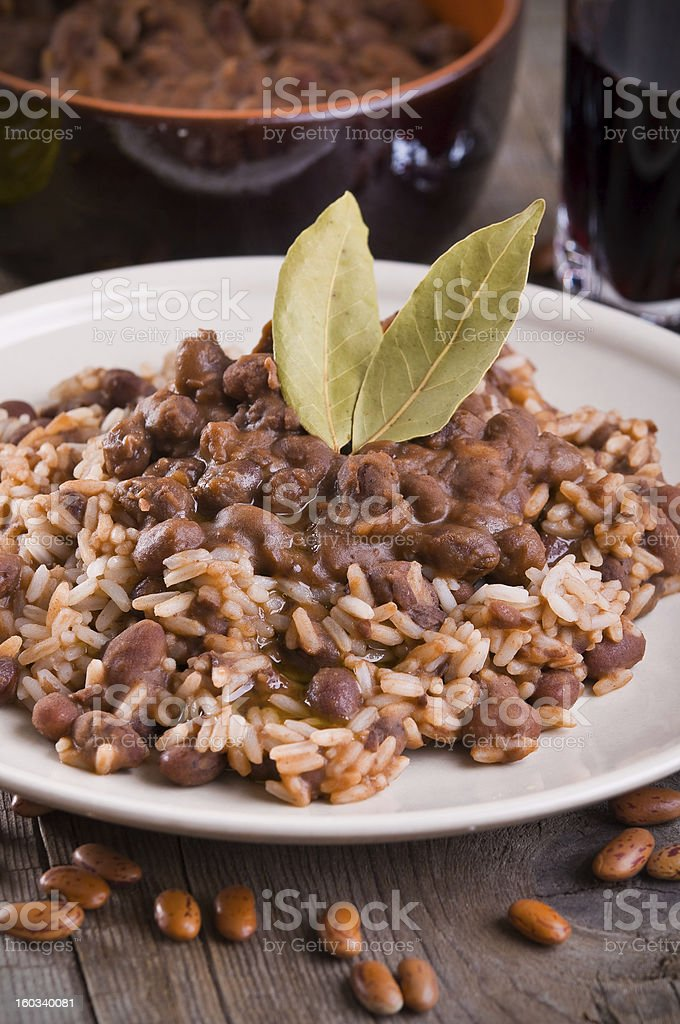Rice and beans. royalty-free stock photo