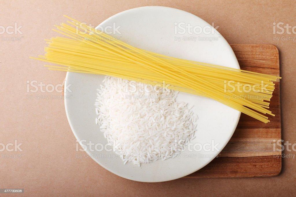 rice and pasta stock photo