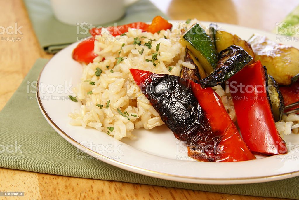 Rice and Vegetables royalty-free stock photo