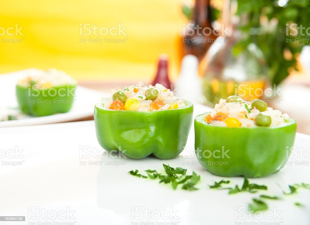 Rice appetizer stock photo