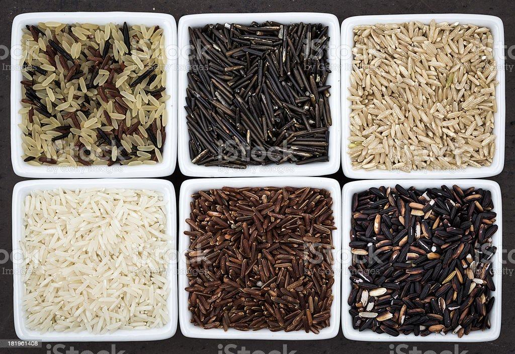 Rice assortment royalty-free stock photo