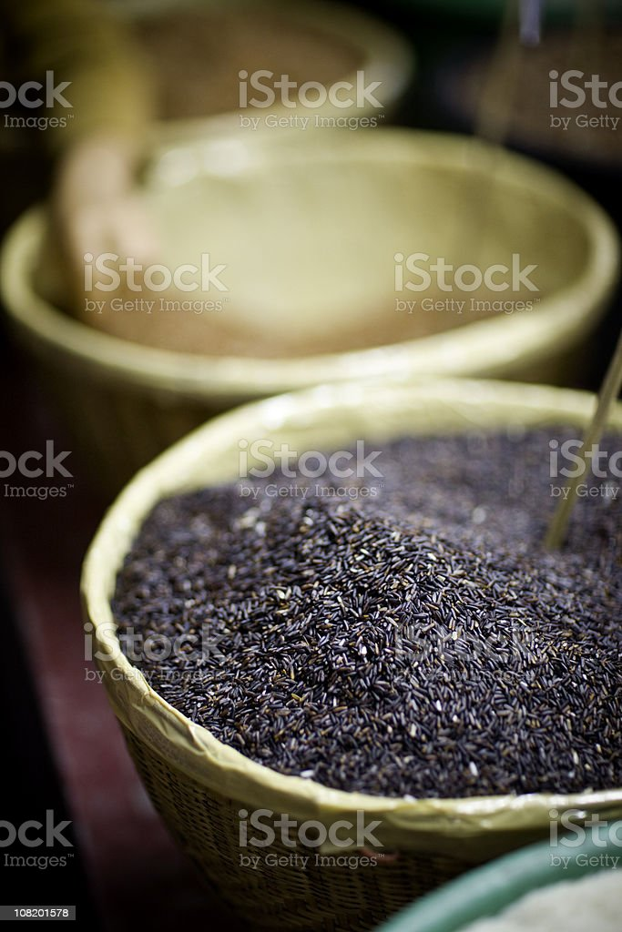 Rice at a Thai Market stock photo