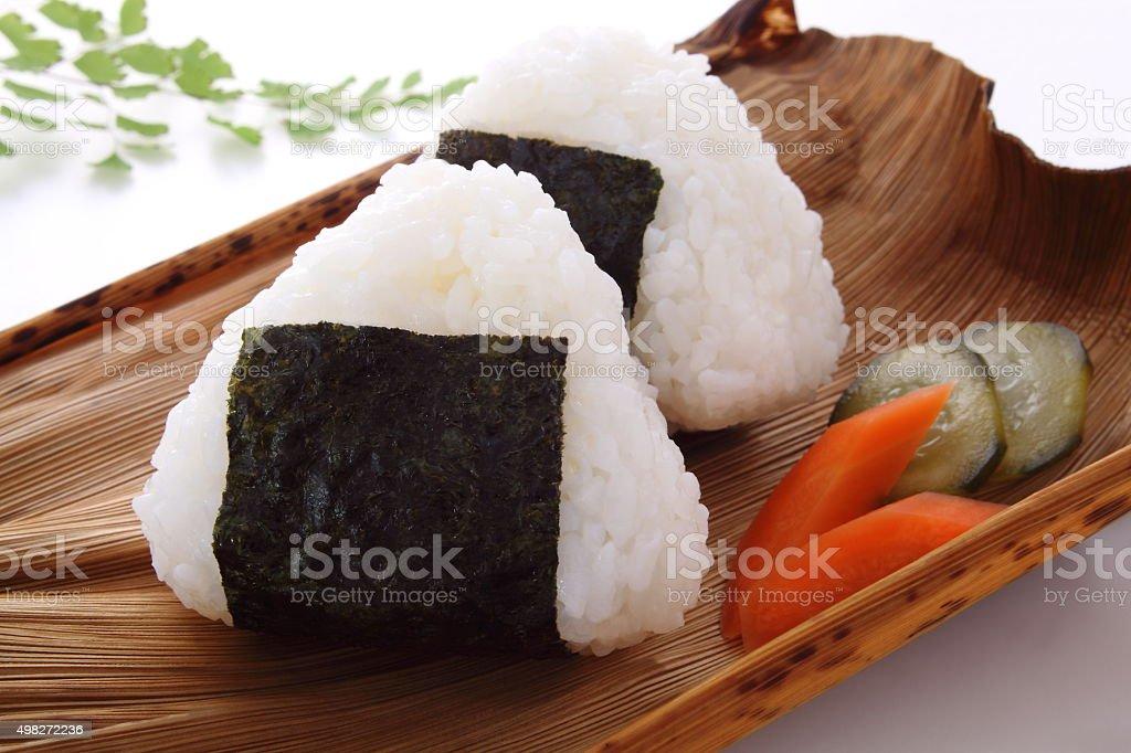 rice ball, Onigiri stock photo