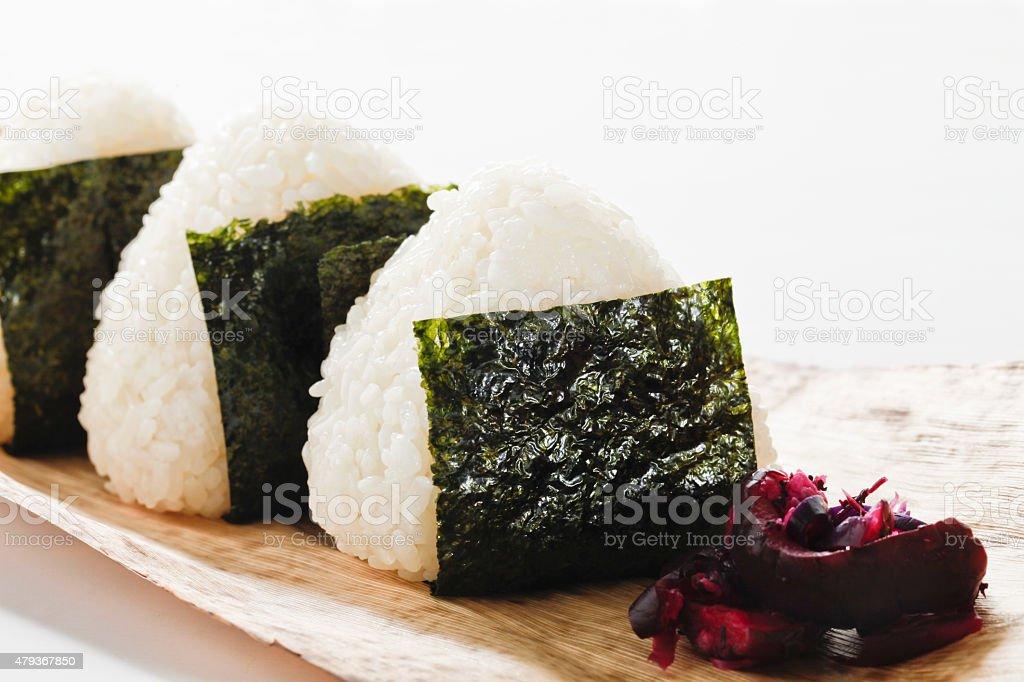 Rice ball stock photo