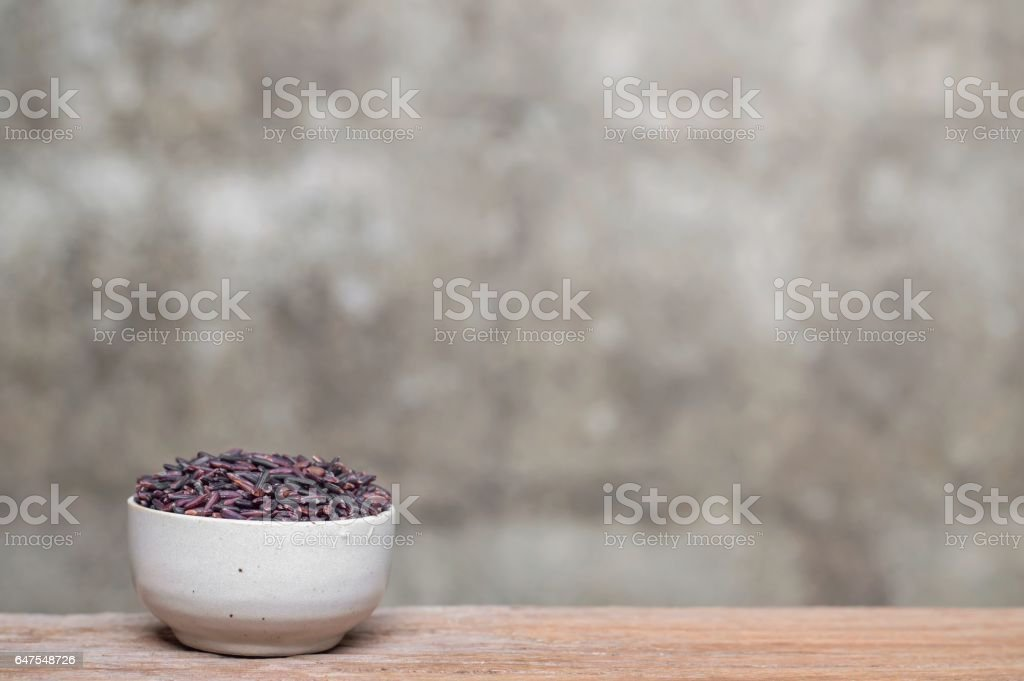 rice berry in bowl stock photo