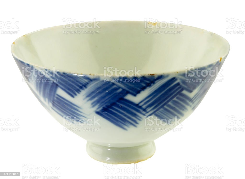 Rice bowl from WW 2 royalty-free stock photo