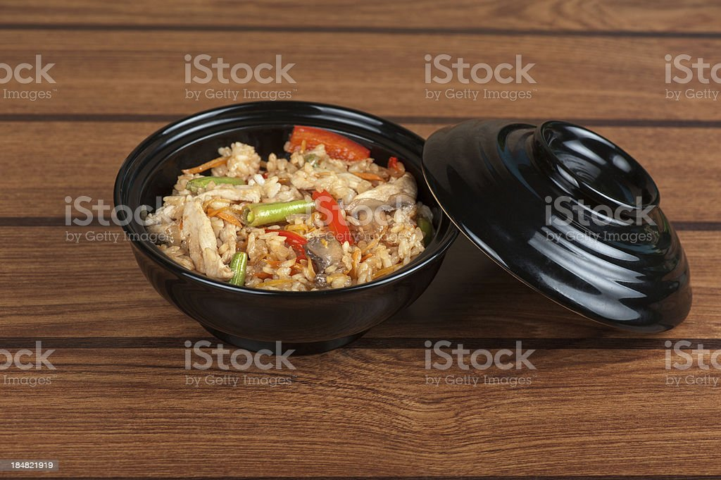 Rice chicken vegetable royalty-free stock photo