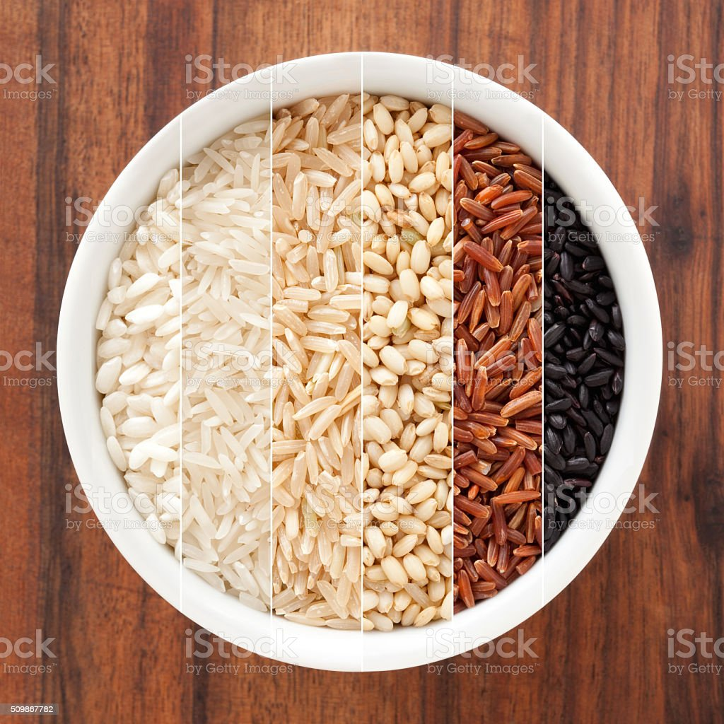 Rice composition stock photo
