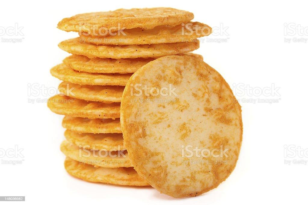 Rice crackers. royalty-free stock photo