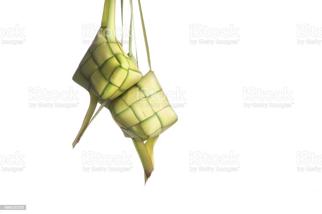 Rice dumpling isolated on white background stock photo