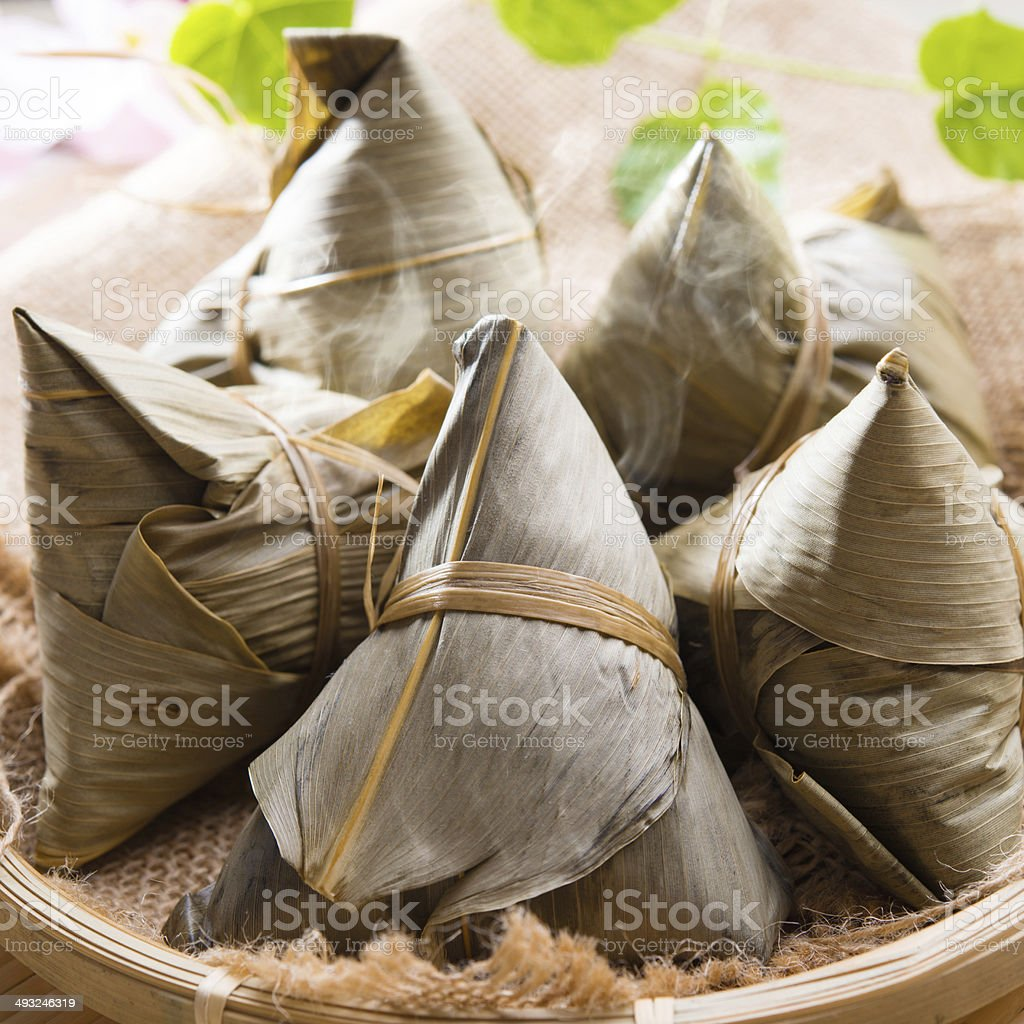 Rice dumpling or zongzi. stock photo