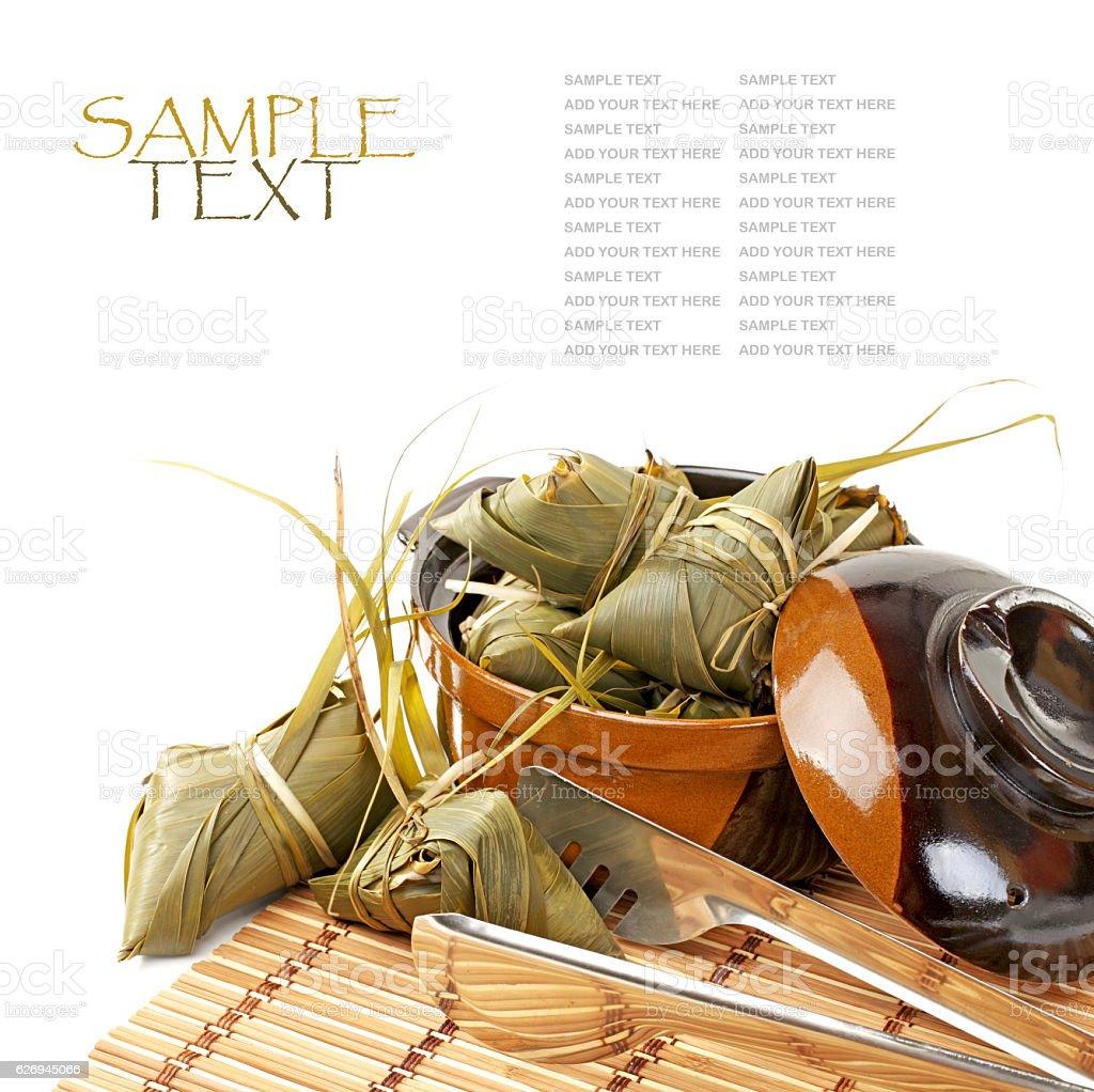 Rice dumpling stock photo
