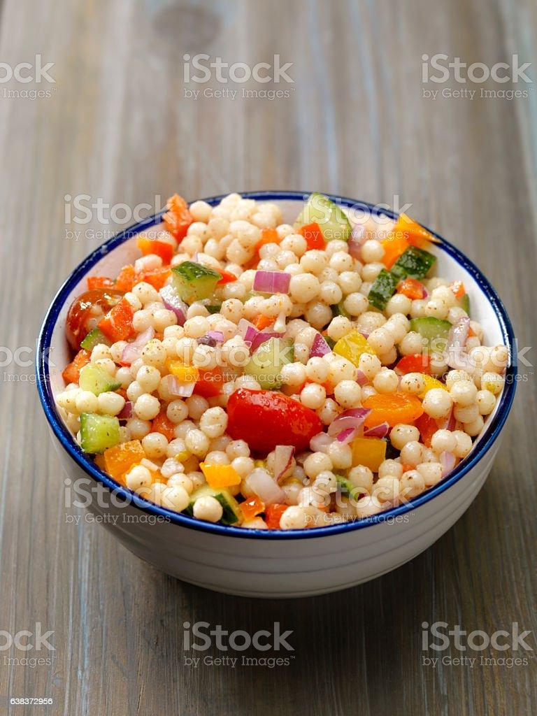 Rice, Edamame and Roasted Vegetable Salad stock photo