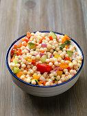 Rice, Edamame and Roasted Vegetable Salad