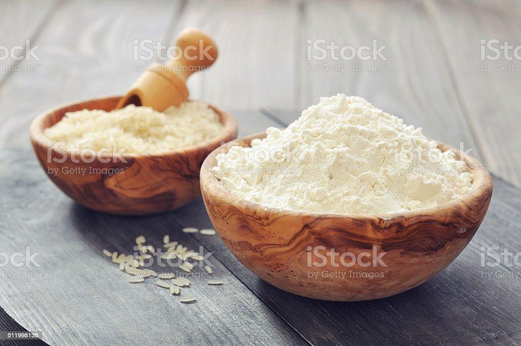 Rice flour stock photo