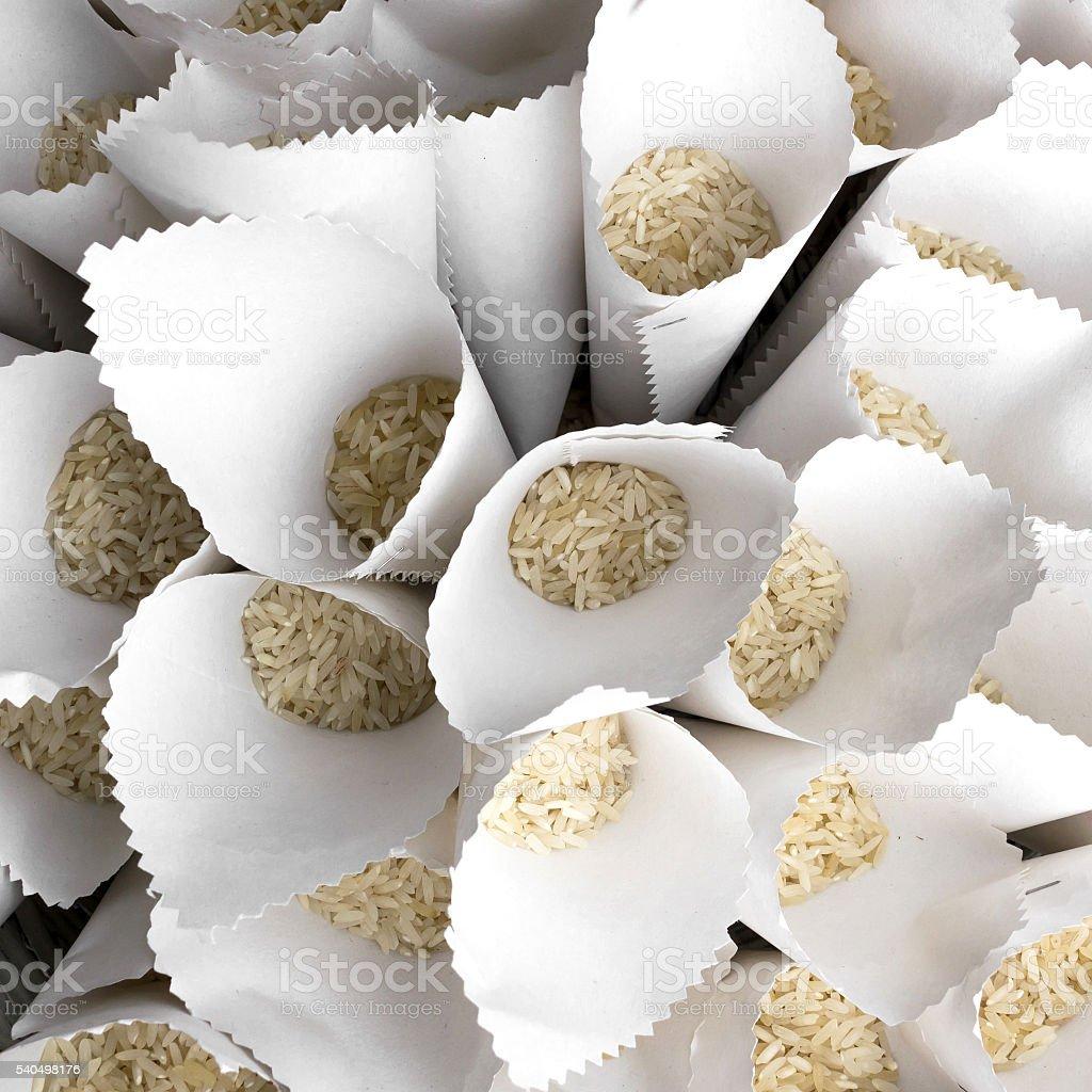 Rice for wedding stock photo