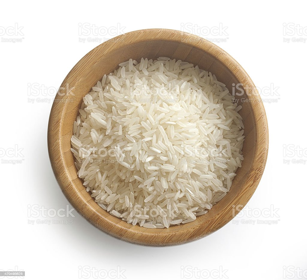 Rice in the bowl stock photo