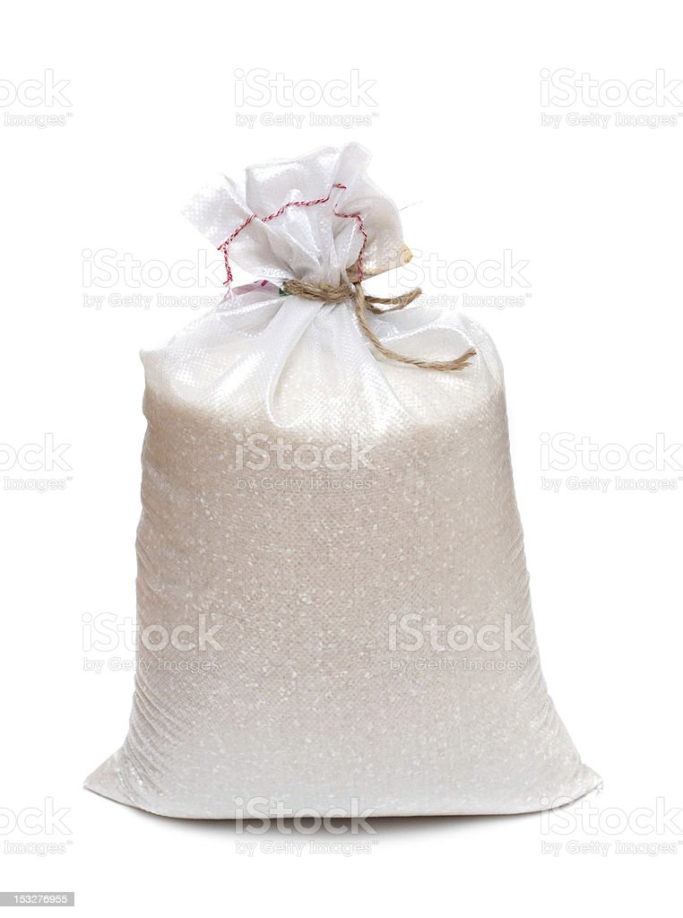 Rice isolated on white background stock photo