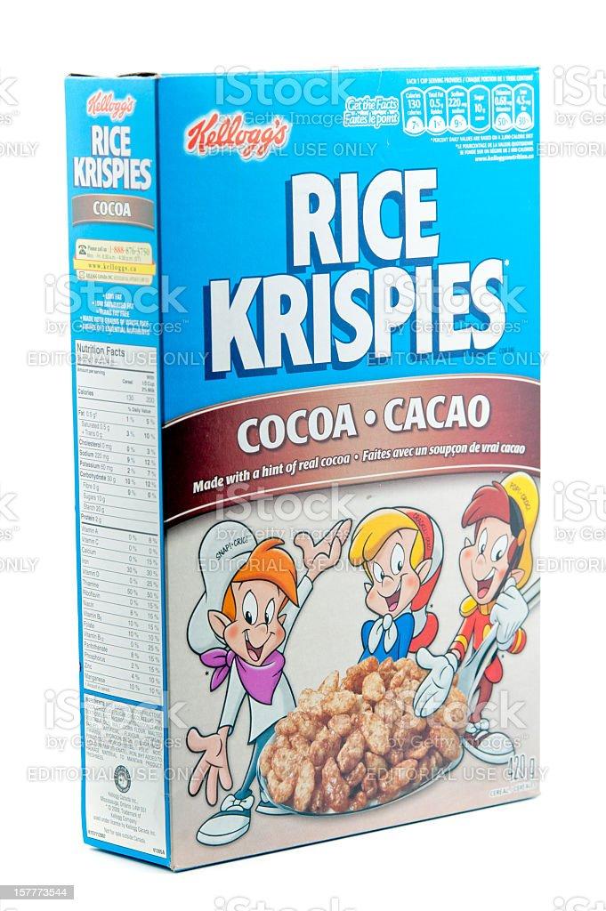 Rice Krispies Cocoa stock photo