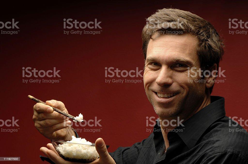 Rice Man stock photo