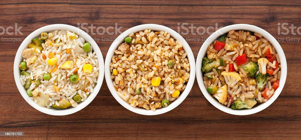 Rice meals stock photo