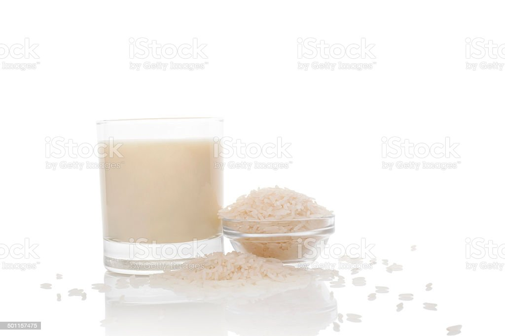 Rice milk. stock photo