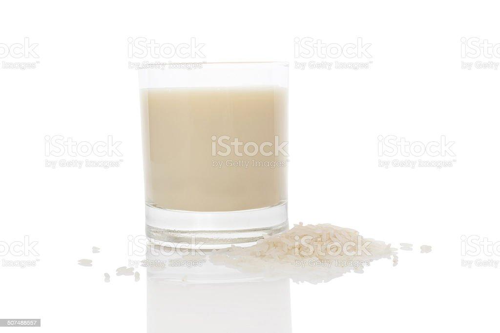 Rice milk. stock photo