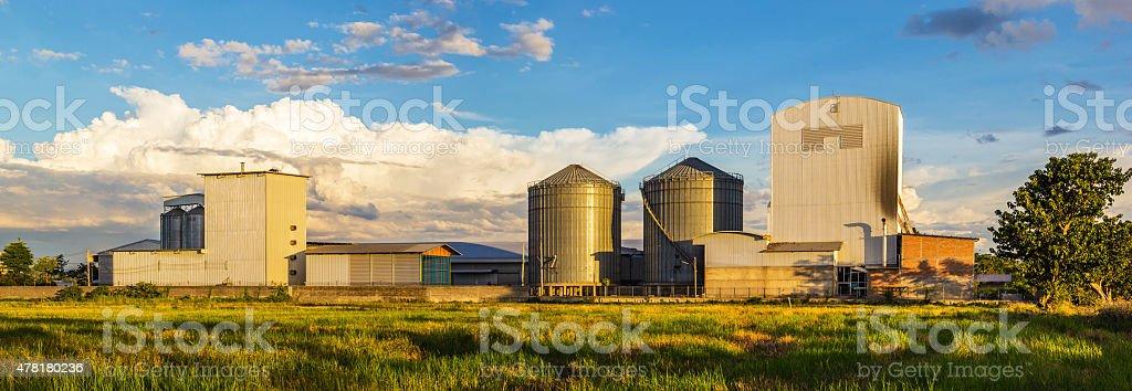 Rice mill Panorama stock photo