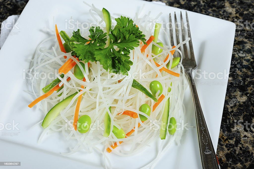 Rice noodles royalty-free stock photo