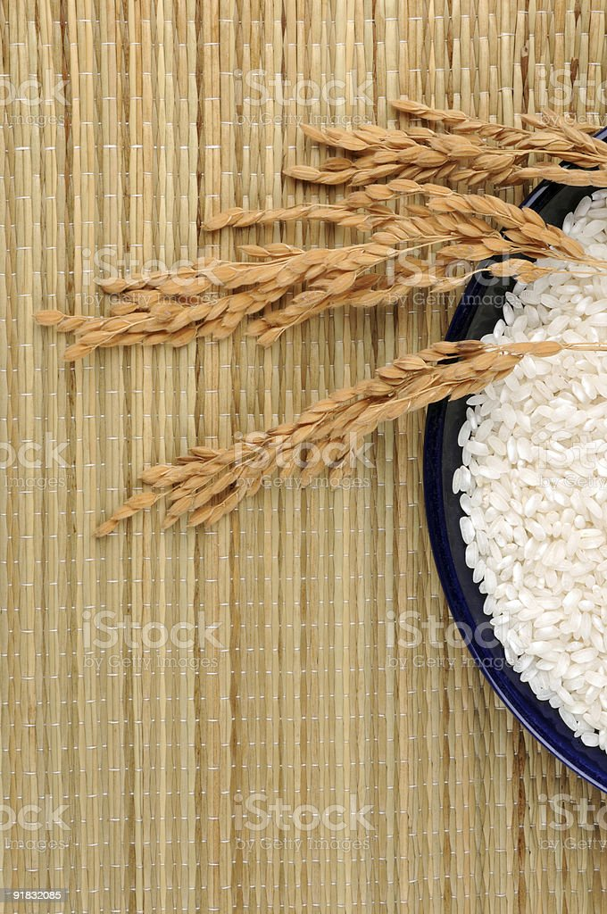 Rice on a mat... royalty-free stock photo