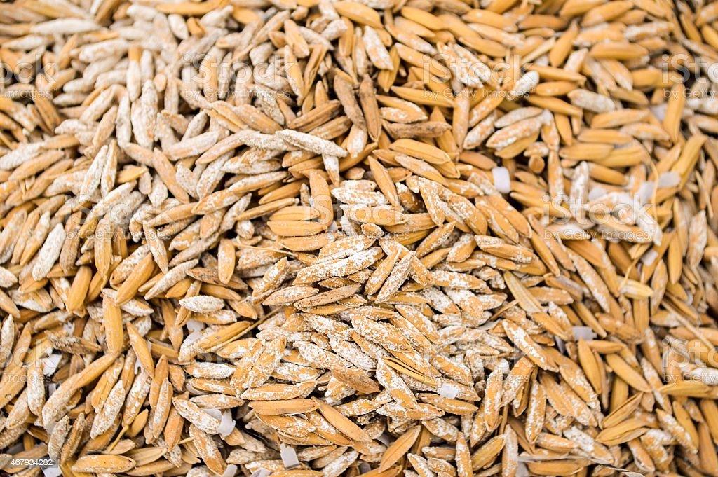 rice paddy husk stock photo