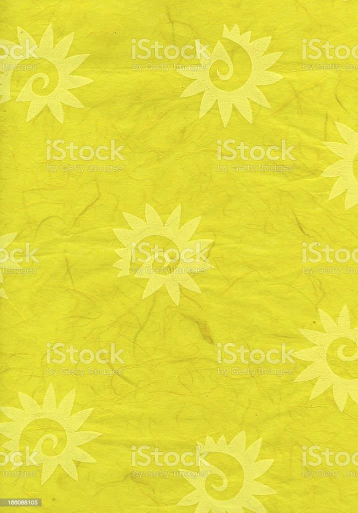 Rice Paper Texture - Decorated Yellow XXXXL royalty-free stock photo