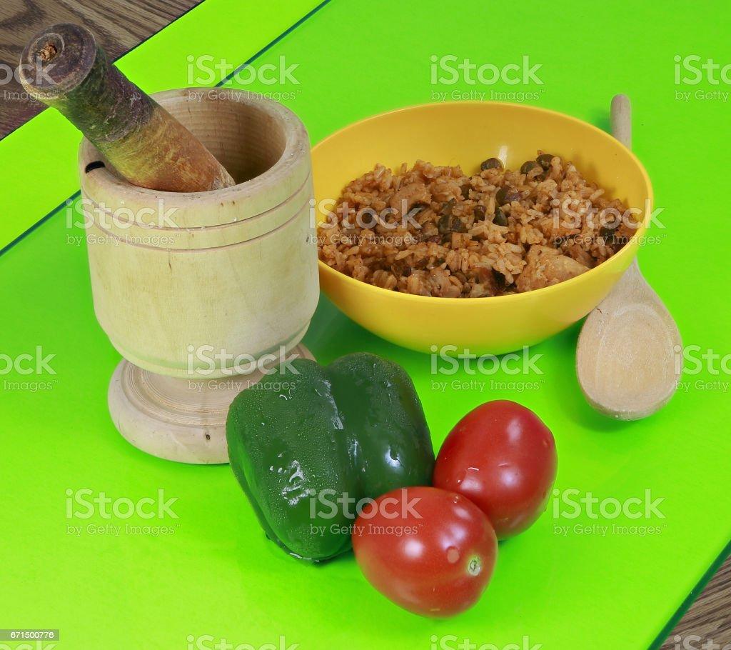 Rice & pigeon peas stock photo