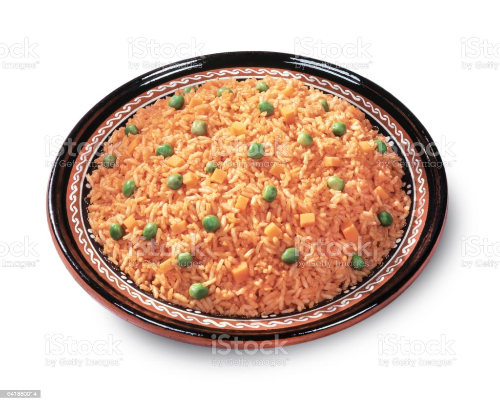 Rice plate with clipping path stock photo