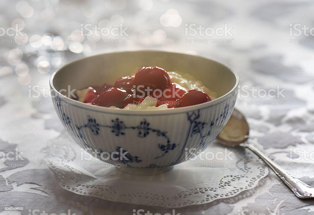 Rice pudding stock photo