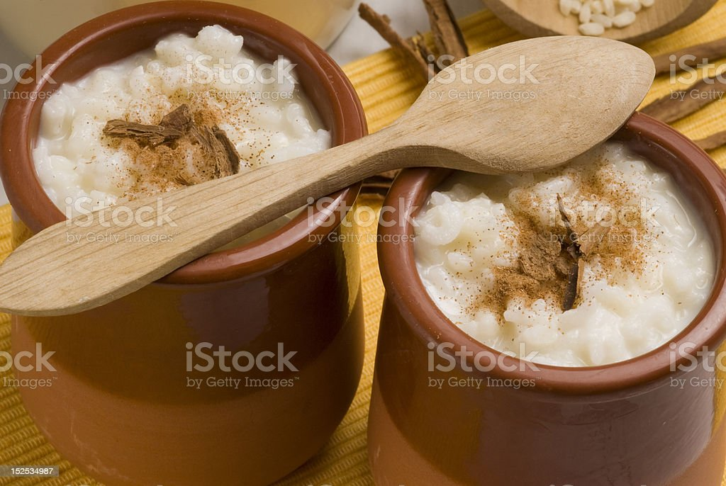 Rice pudding. Arroz con leche. royalty-free stock photo