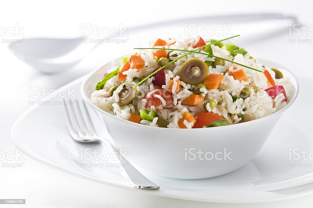 Rice salad royalty-free stock photo