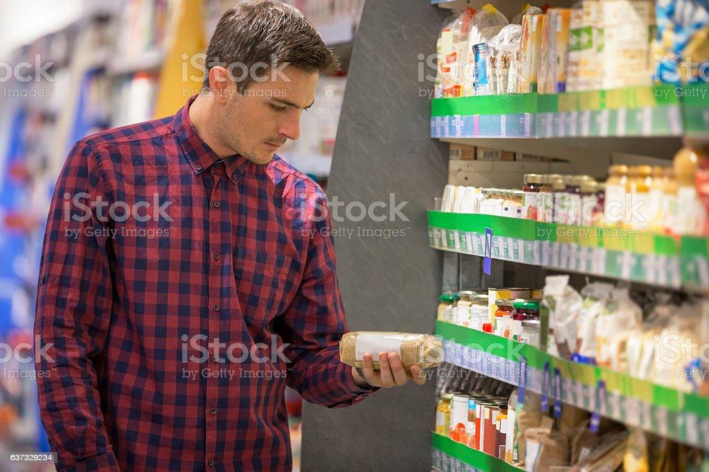 Rice shopping stock photo
