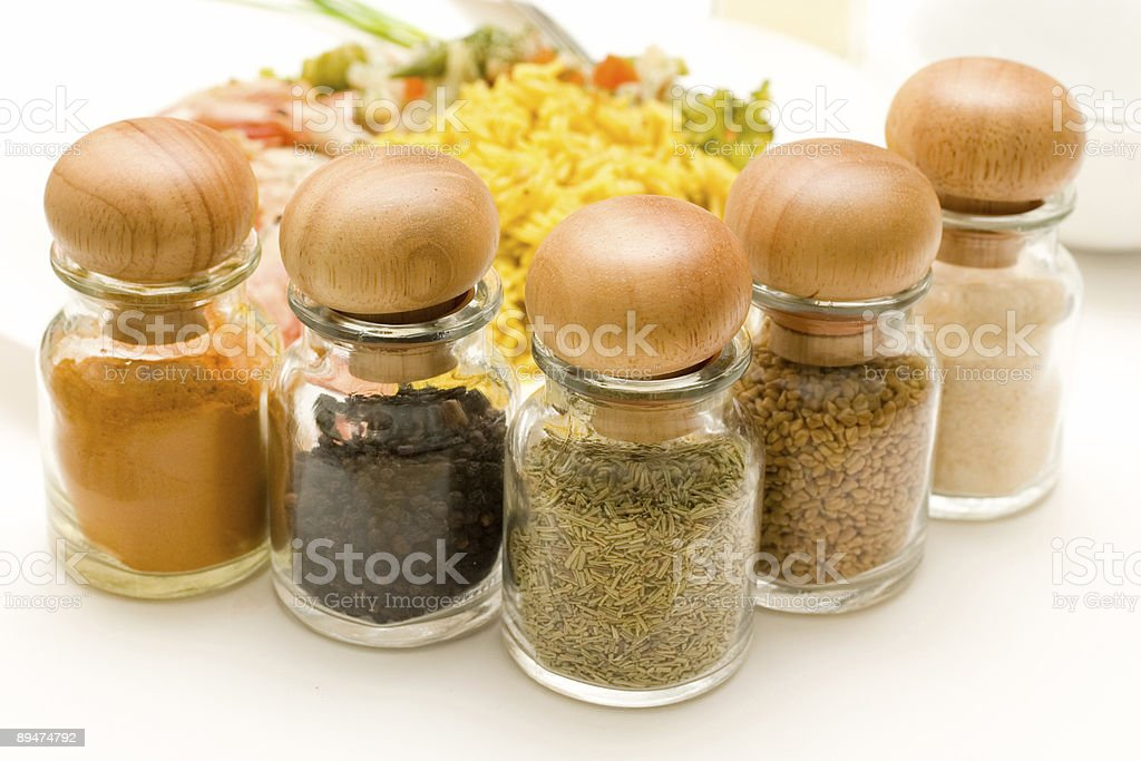 rice, shrimps and spices royalty-free stock photo