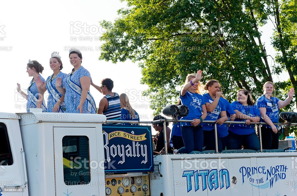 Rice Street Royalty at Parade stock photo
