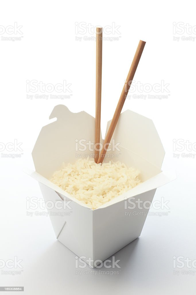 Rice Takeout royalty-free stock photo