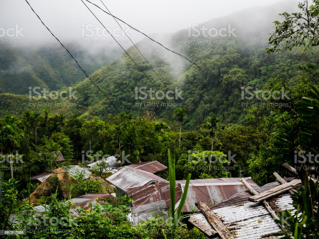 Rice terraces of Batad in Luzon, Philippines stock photo