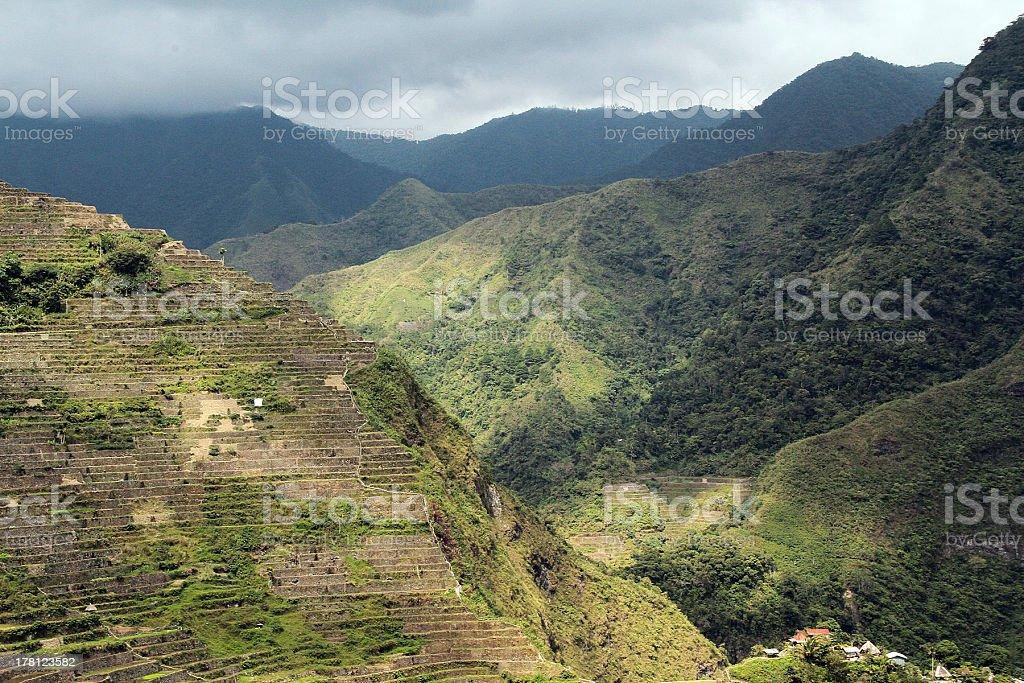 Terrazze di riso di Batad foto stock royalty-free